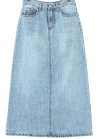Vintage denim long skirt