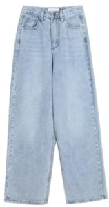 wide denim eyelet pants - woman