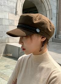 Wool chain marine cap