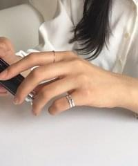 (silver925) two thin ring