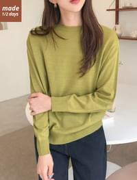 Basic round neck knit knitwears