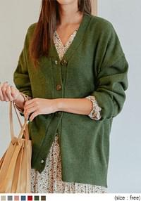RATON WOOL 50% KNIT CARDIGAN