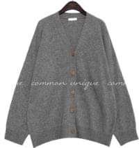 Wool Blend Button-Up Knit Cardigan WITH CELEBRITY