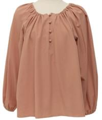 Emma round shirring blouse_C