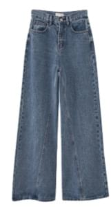 curve denim pants (2colors)
