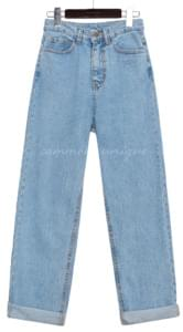 KANOA WIDE ROLL UP DENIM PANTS