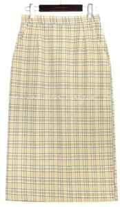 ARUBA CHECK SLIT LONG SKIRT