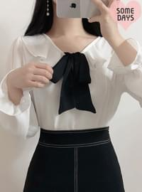 Self-made ♥ Mary ribbon color blouse
