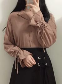 ♥ Brick collar blouse