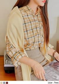 KIMA CHECK LOOSE FIT SHIRTS