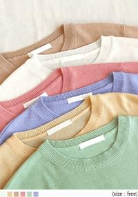 CLID WOOL BASIC ROUND NECK KNIT