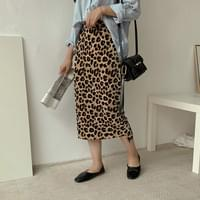 Leopard Skirting Long Skirt