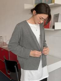 daily v-neck wool cardigan