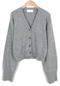 Wool 45 crop V-neck cardigan