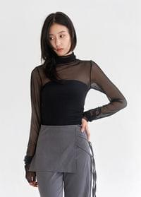 See-through layered top