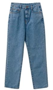 Kanji denim loose pants
