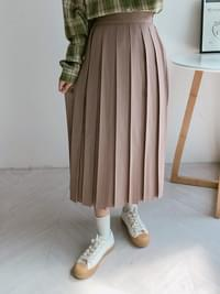 Coco pleated long skirt