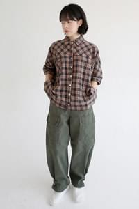 maxi cargo cotton pants