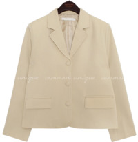 WOODS RAYON WRAP BUTTON JACKET