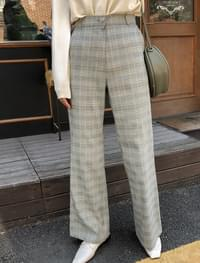 check pattern wool pants