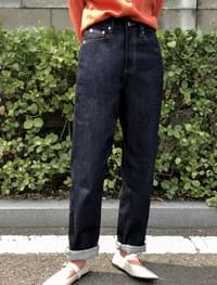 wide fit stitch denim pants