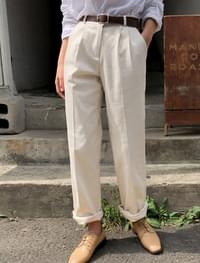 daily pintuck cotton pants