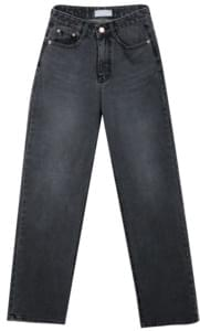 137 black wide denim pants