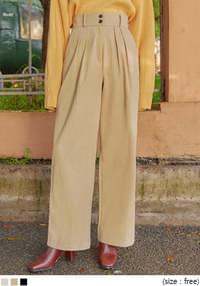 ROTER PINTUCK COTTON WIDE PANTS