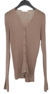 soft texture ribbed cardigan