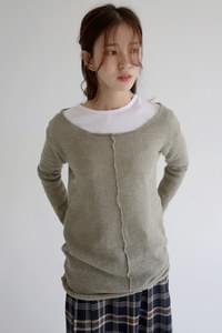 girlish mood round neck knit