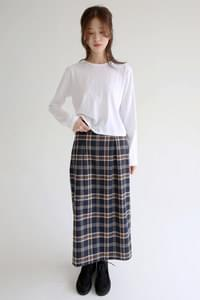 unique pattern check skirts (3colors)