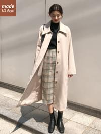 Big Cara Single Trench Coat