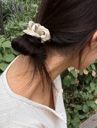 silky shirring hairband