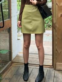 normal leather mini skirt