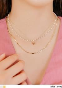 PEARL POINT LAYERED NECKLACE