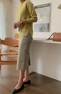 Morandi Check Skirt