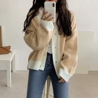 Peace Herringbone Cardigan