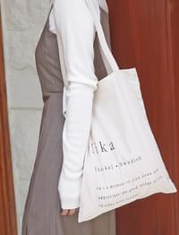 Fika lettering cotton bag_C