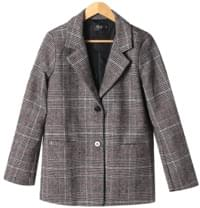 Paris Woolen Check Jacket