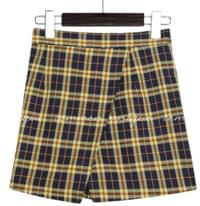 HONTAS CHECK WRAP PANTS SKIRT