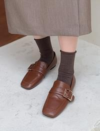 Nine buckle stitch loafer_C