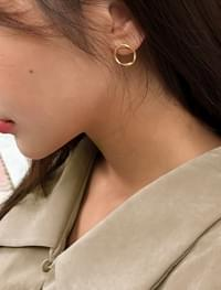 daily circle shape earring
