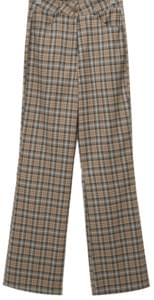 Mild check long slacks_C (size : S,M)