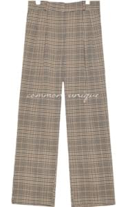 VIRO CHECK BANDING WIDE SLACKS