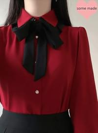 Self-made ♥ Gini Cara Ribbon blouse