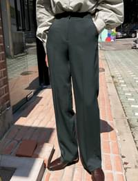 morden high-waist slim slacks