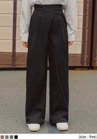 UNBAL BANDING WIDE LONG PANTS