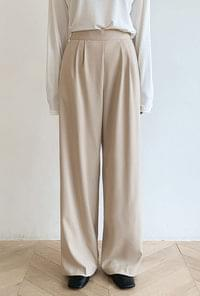 2 pin tuck wide slacks