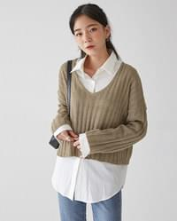 cecil v-neck crop knit