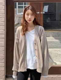 Cozy Daily Loose Fit Wool Cardigan